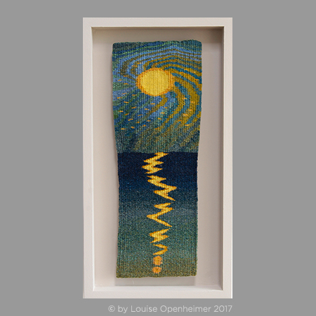 Louise Oppenheimer. Tapestry Weaving 'Moonshine 3'