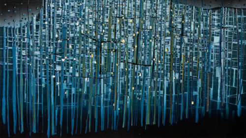 Colour linocut 'Forest', 2012, X3col., 50x90