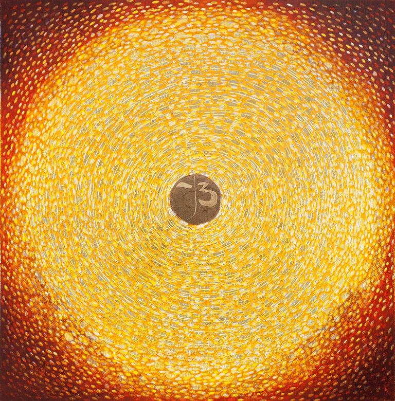 Daliute Ivanauskaite. Colour linocut print. Circle.