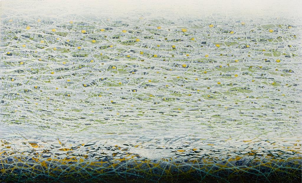 Daliute Ivanauskaite. Melting Ice. Colour Linocut Print