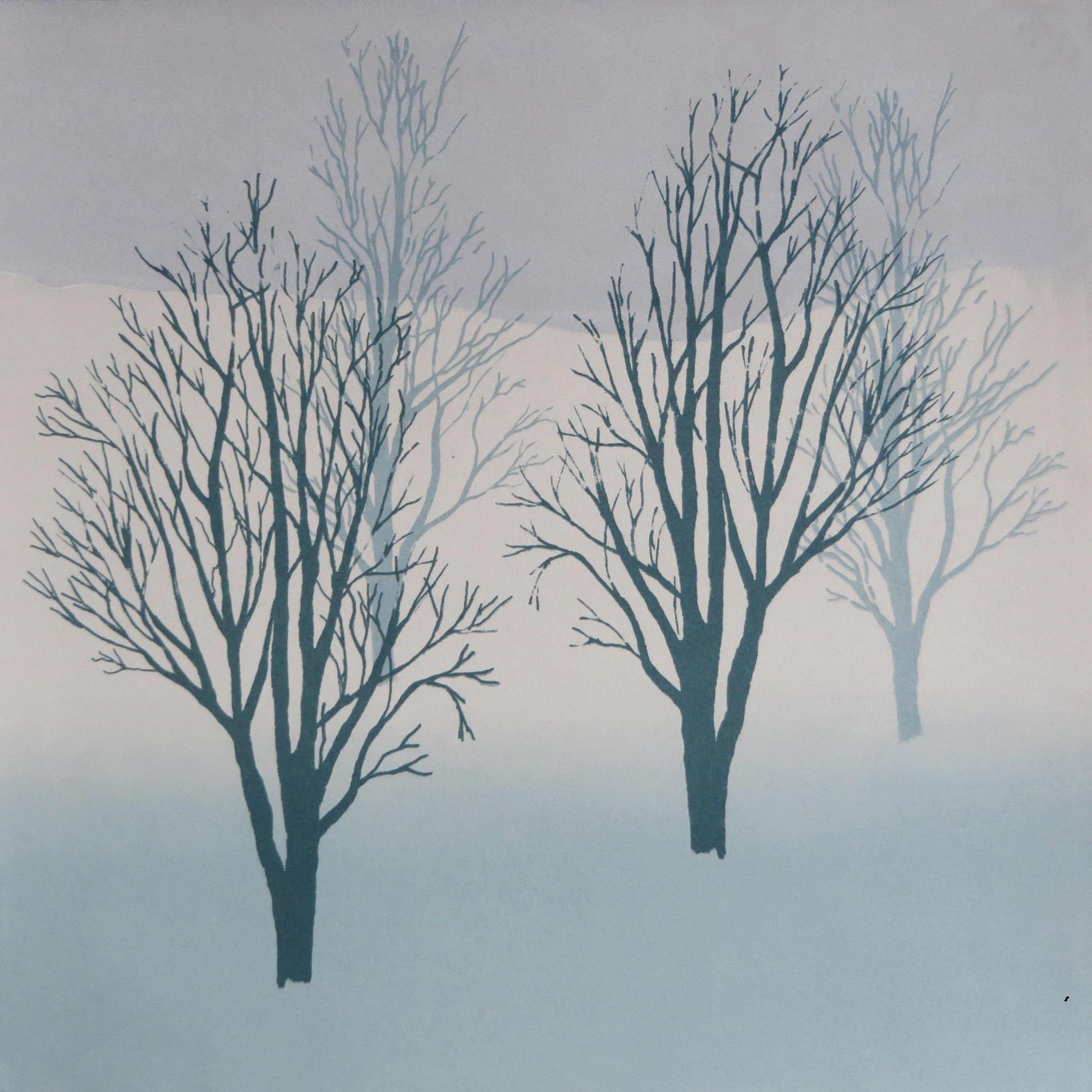 Rona MacLean. Screen Print. Winter Quartet