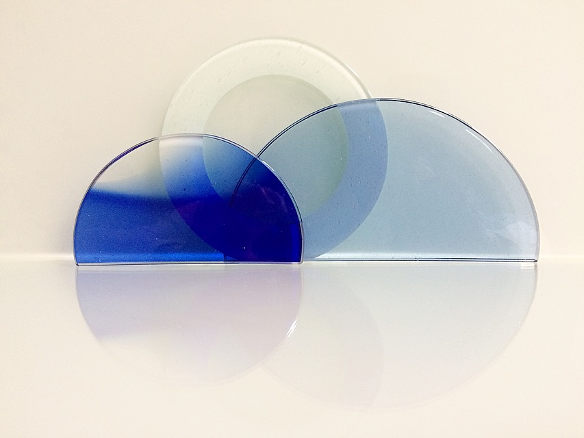 Amanda Baron. Stained, hand cut glass fragments