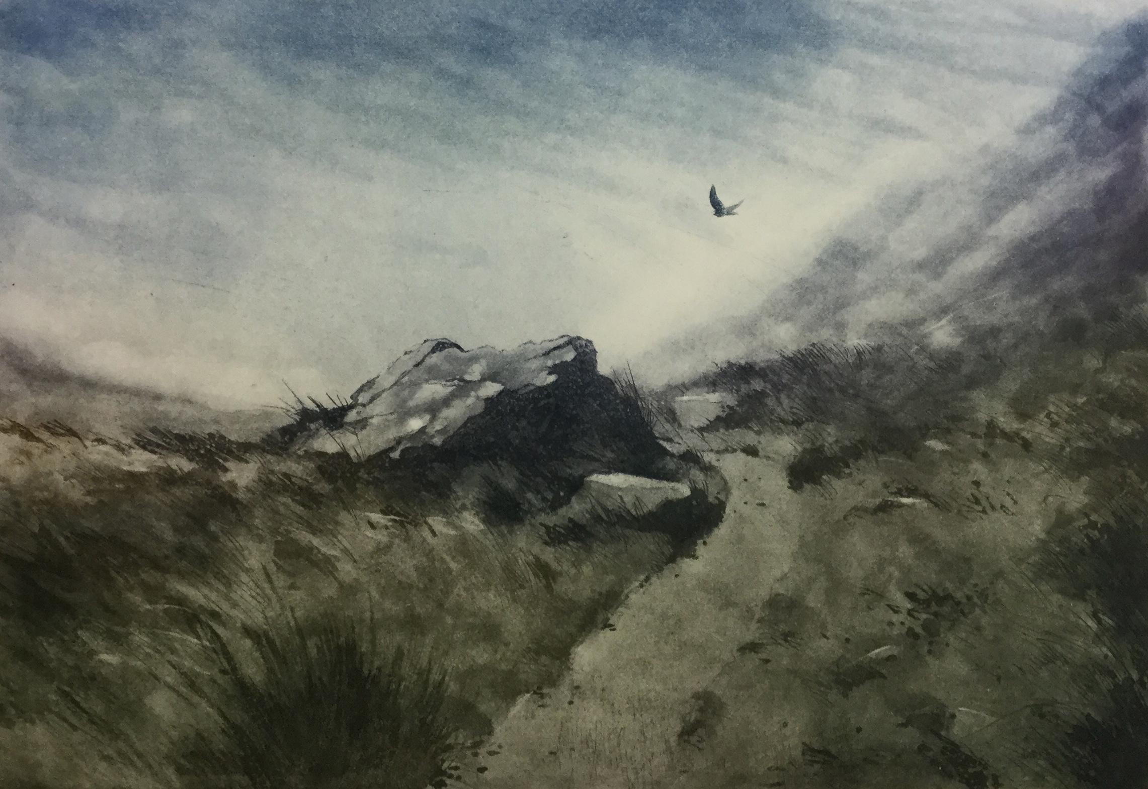 Gregory Moore - Merlin (etching)