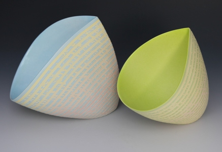 Jenny Morten - Two Sloping bowls