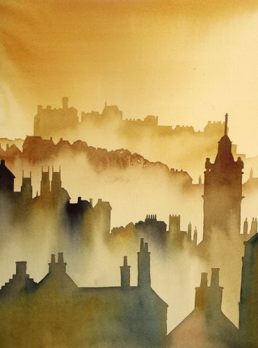 Ian Scott Massie. Edinburgh 40 x 50cm