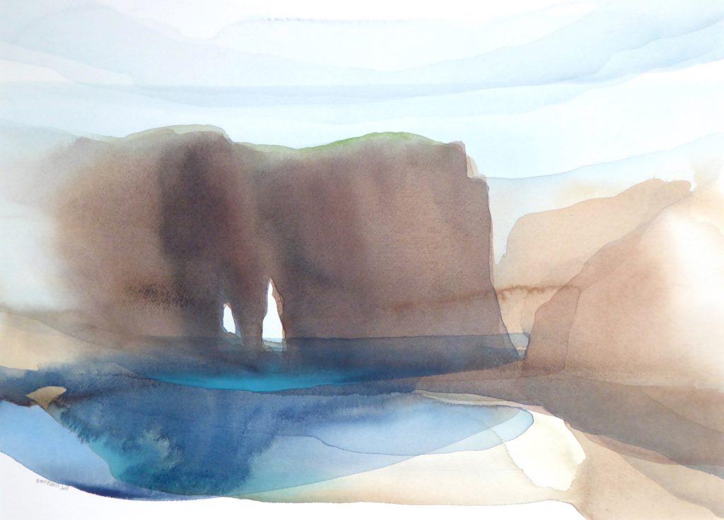 Peter Davis. South Hams, Watercolour on paper 2018, (70x51cm)