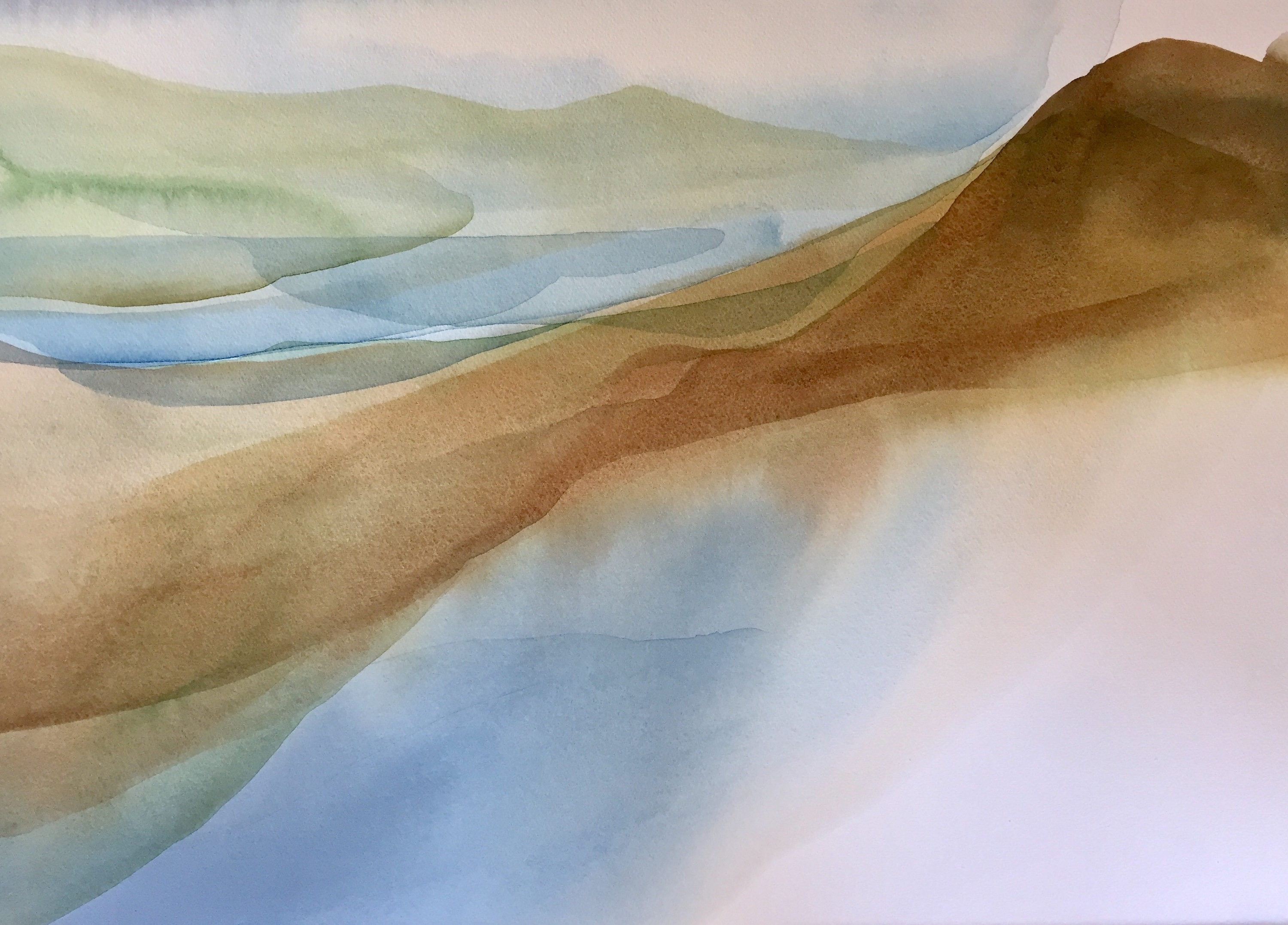 Peter Davis. Sulmaness, Watercolour on paper 2018, (70x50cm)