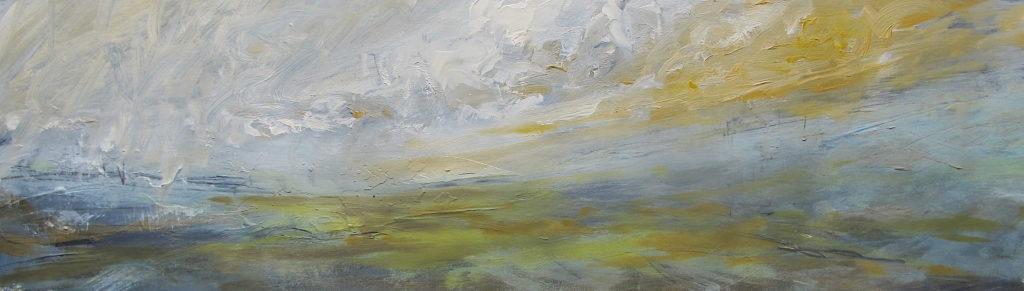 Libby Scott, Golden Horizons, 30 x 70cm