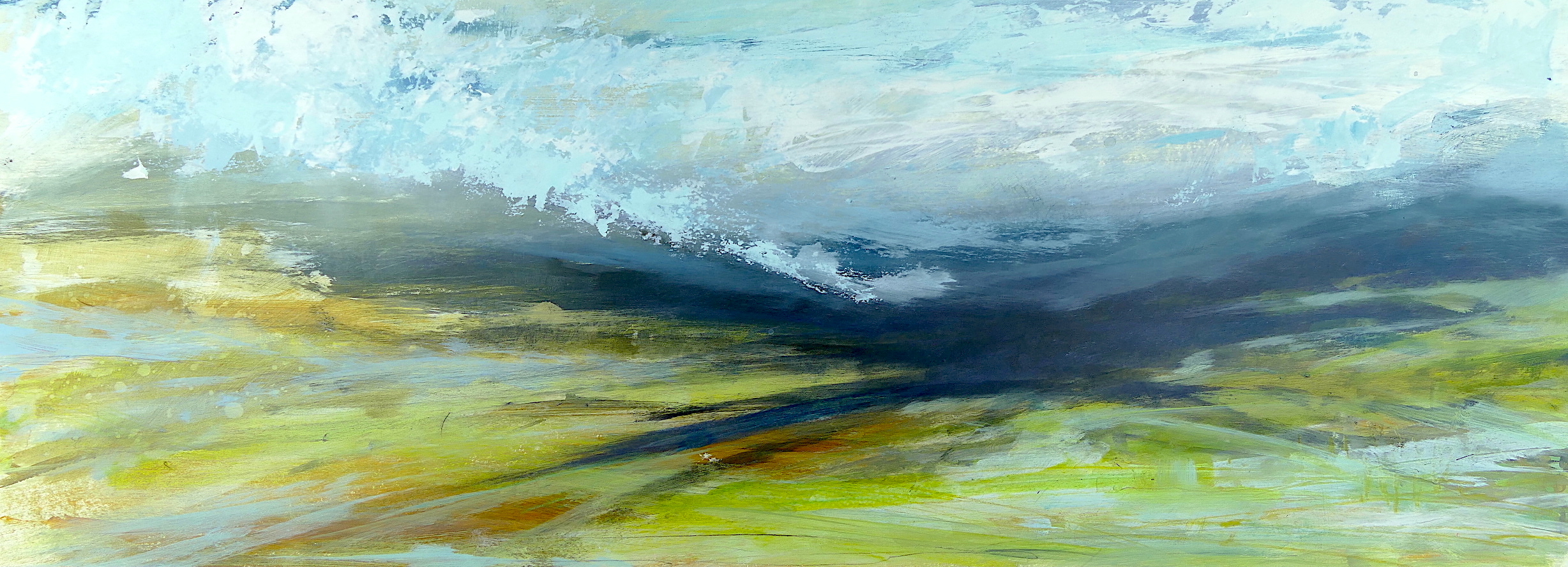 Libby Scott, Shadow Lands, 40 x 80cm