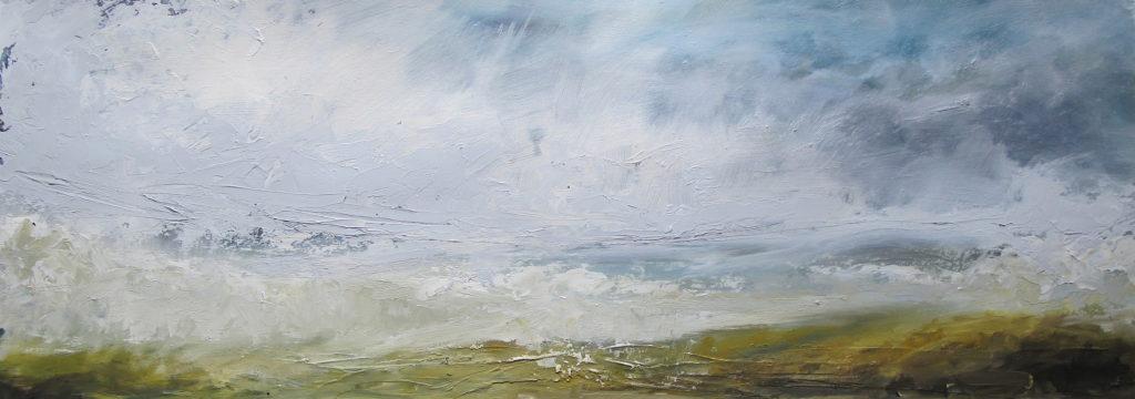 Libby Scott, Tumultuous Skies, 40 x 80cm
