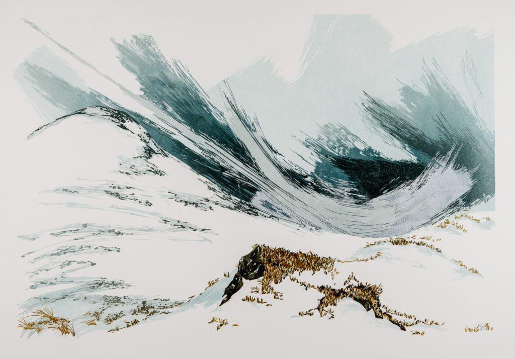 Laura Boswell. Granite (linocut, 600 x 400)