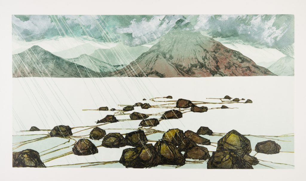 Laura Boswell. Noonday_Squall (linocut, 570 x 320)