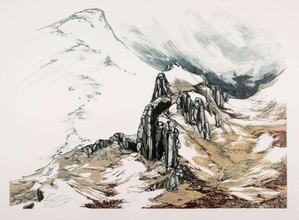 Laura Boswell. Snowcloud (linocut, 590 x 430)