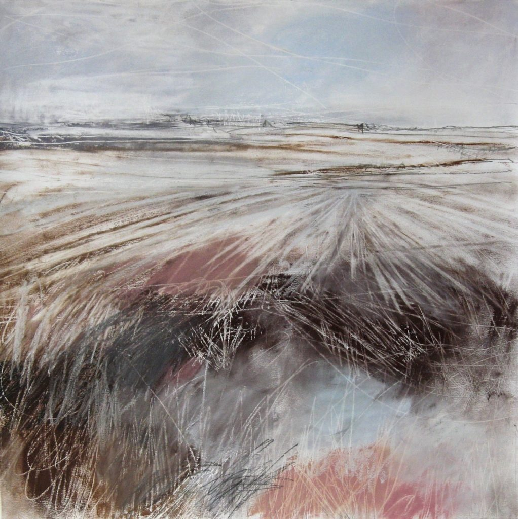 'Expanse', Janine Baldwin, pastel, charcoal and graphite on paper, 45 x 45cm