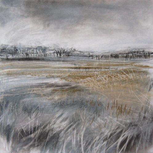 Fields-at-Potter-Brompton-Janine-Baldwin-pastel-charcoal-and-graphite-on-paper-34-x-34cm