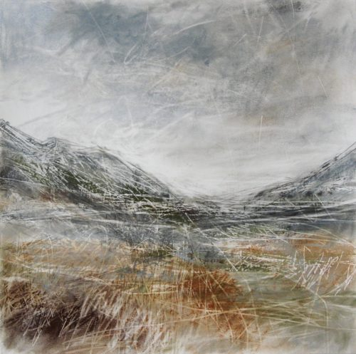 Glen-Nevis-II-Janine-Baldwin-pastel-charcoal-and-graphite-on-paper-34x34cm
