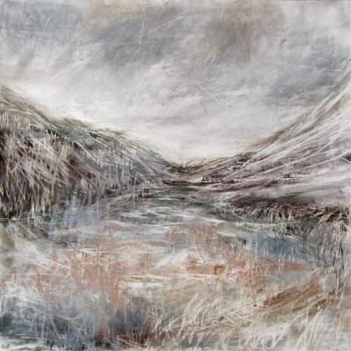 'Glen Nevis', Janine Baldwin, pastel, charcoal and graphite on paper, 45x45cm