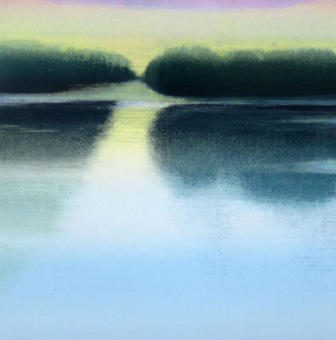 Ian McNnicol. Scottish Loch 5 - monotype