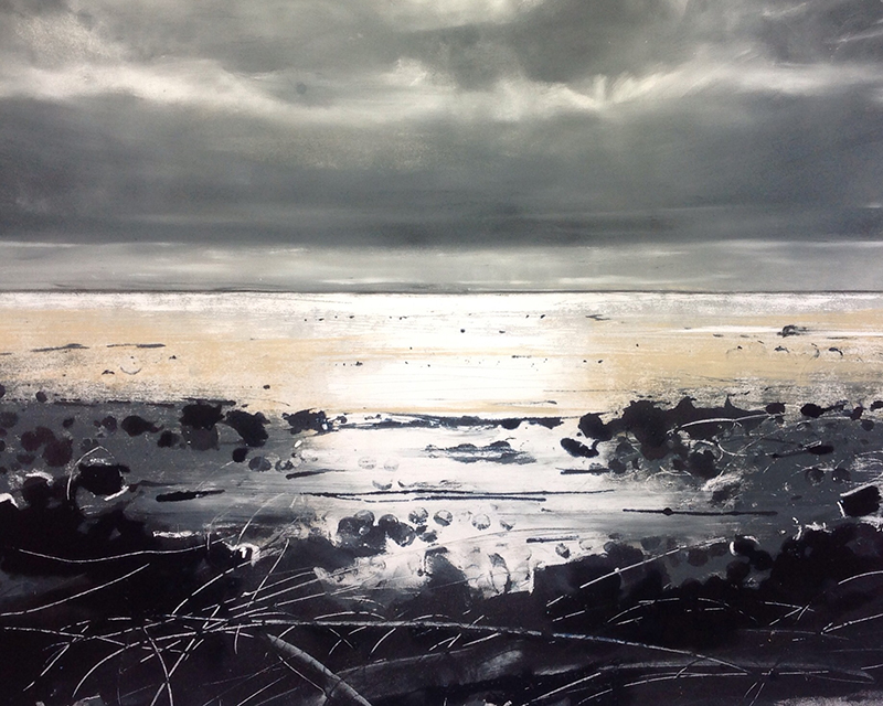 Helen Fryer. Late Evening, Allonby. 48x42.