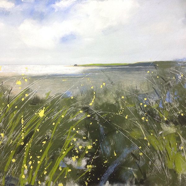 Helen Fryer. Spring Morning, Allonby. 48x48cm.