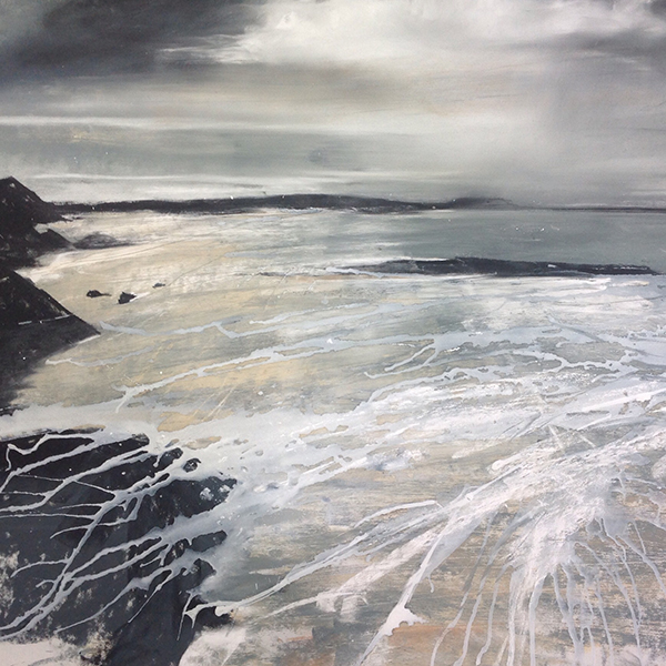 Helen Fryer. Winter Evening. Camusdarach. 48x48 cm