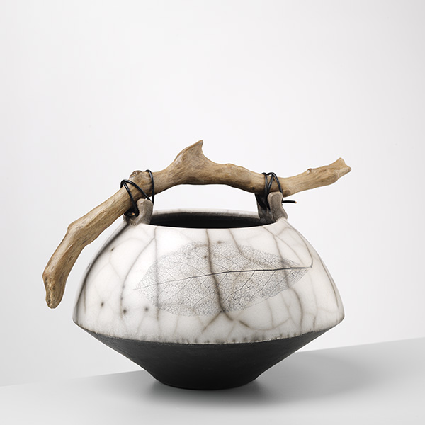 Anne Morrison. Black Base Leaf Urn