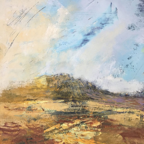 Penny Hunt. A Spring in my Step 33x33cm glazed