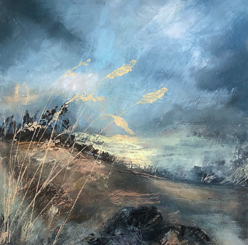 Penny Hunt. Late Evening Light 30x30cm Oil & cold wax on board unframed