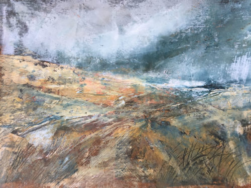 Penny Hunt. Where the Wind Blows 52x43cm glazed