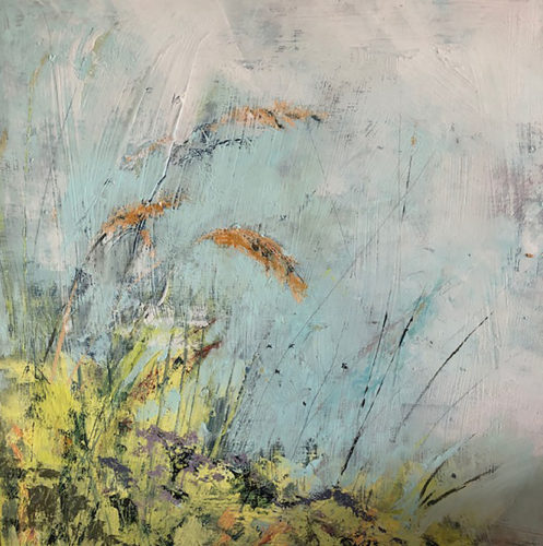 Penny Hunt. verges4 30x30cm oil on board unframed