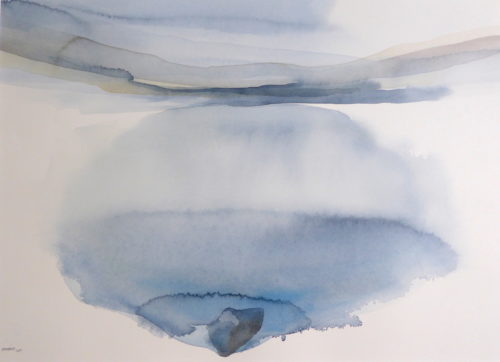 Peter Davis. Duska- Heilia Water, Watercolour on paper 2019 (70x50cm)