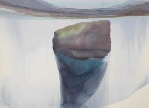 Peter Davis.Skerry, Watercolour on paper 2019, (70x50cm)
