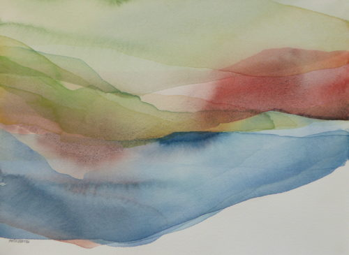 Peter Davis. Sulma Water, Watercolour on paper 2019 (30x22cm)