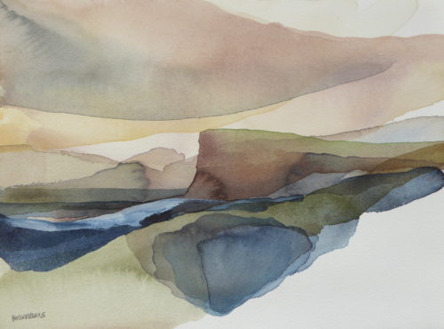 Peter Davis. Twidel, Westside, Watercolour on paper 2019 (29x22cm)