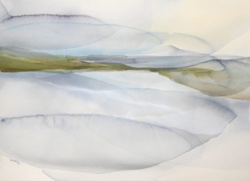 Bu -A last view from the Hill, Watercolour on paper 2019 (70x50cm)