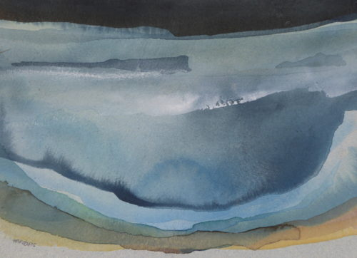 Peter Davis. Goisteros - Stenness, Watercolour on paper 2019, 33x24cm)