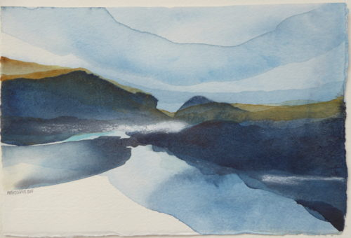 Peter Davis. Littlelure, Watercolour on paper 2018, (25x17cm)