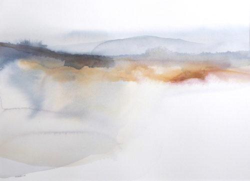 Peter Davis.Mizzle, Watercolour on paper 2019 (70x50cm)