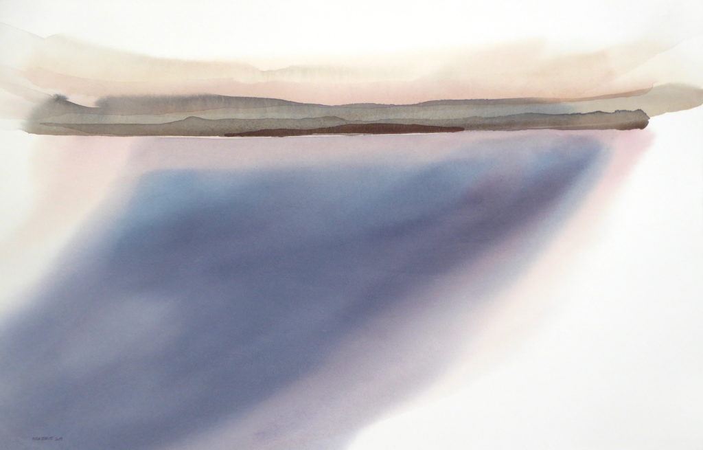 Peter Davis. Simmer Dim, Watercolour on paper 2019 (96x60cm)