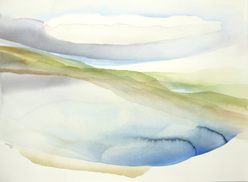 Peter Davis. Voar, Neeans Neap, Watercolour on paper 2019 (70x50cm)