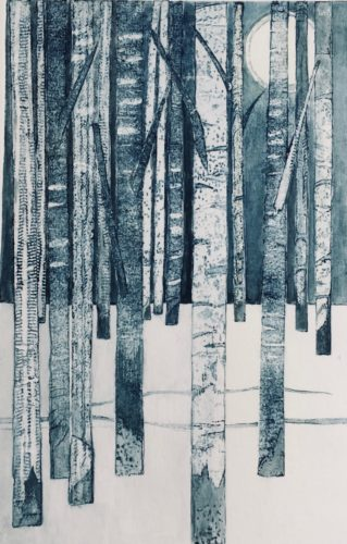 Gill Thompson. Birches