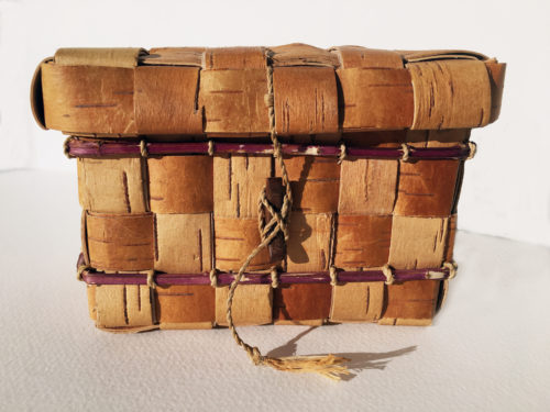 Tim Palmer. Birch Bark basket