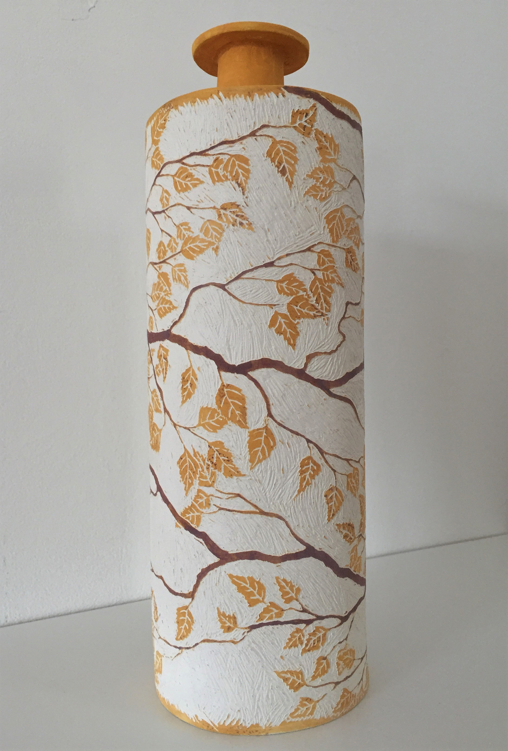 Nicky Bolland. Birch bottle vase