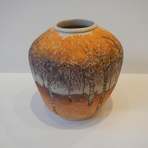 Nicky Bolland. 'Autumn Birches' vessel