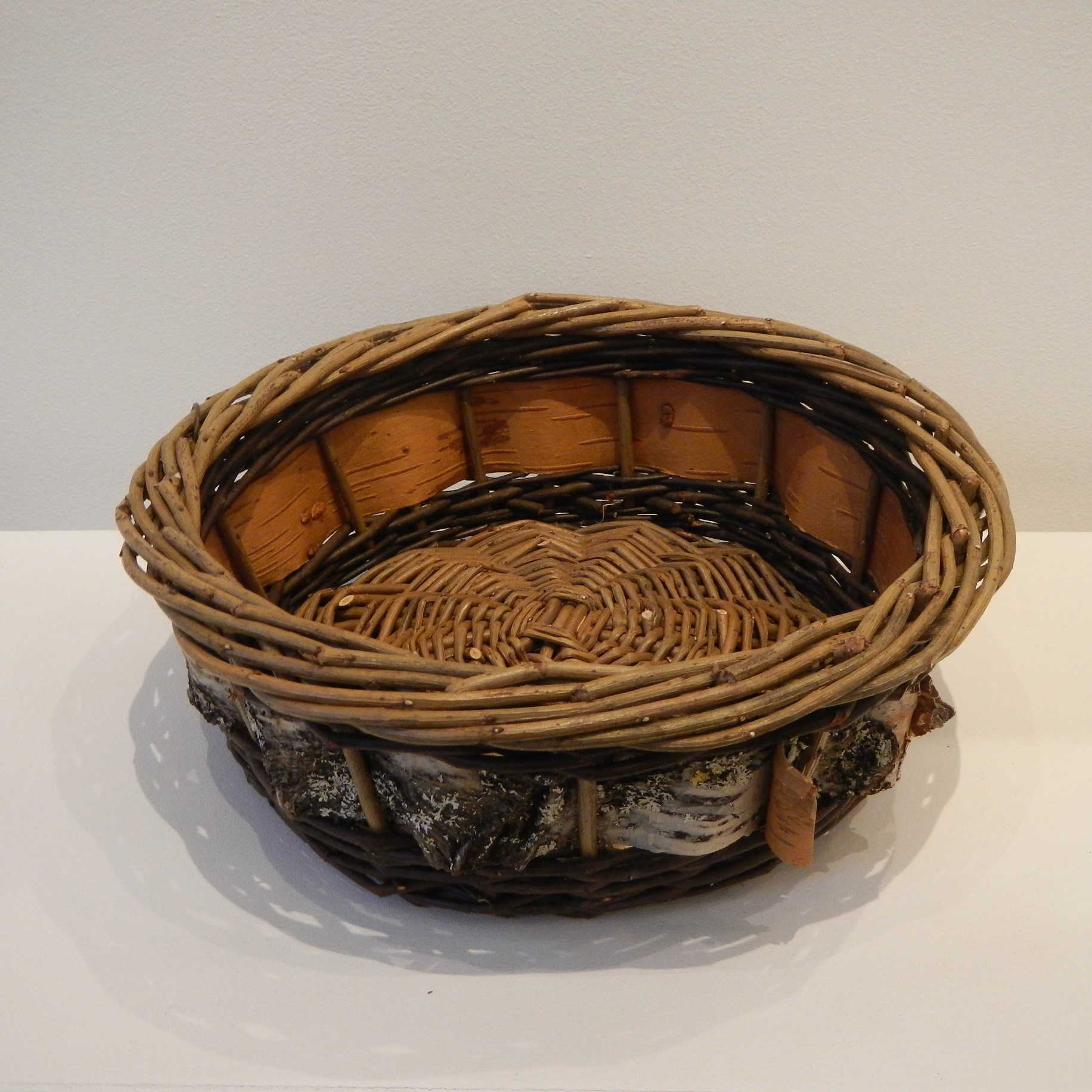 Tim Palmer. Willow and Birch Bark basket (smaller)