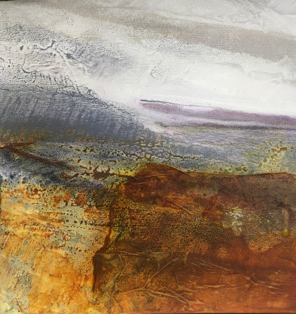 Glynnis Carter.Clearing Sky 30x30cm