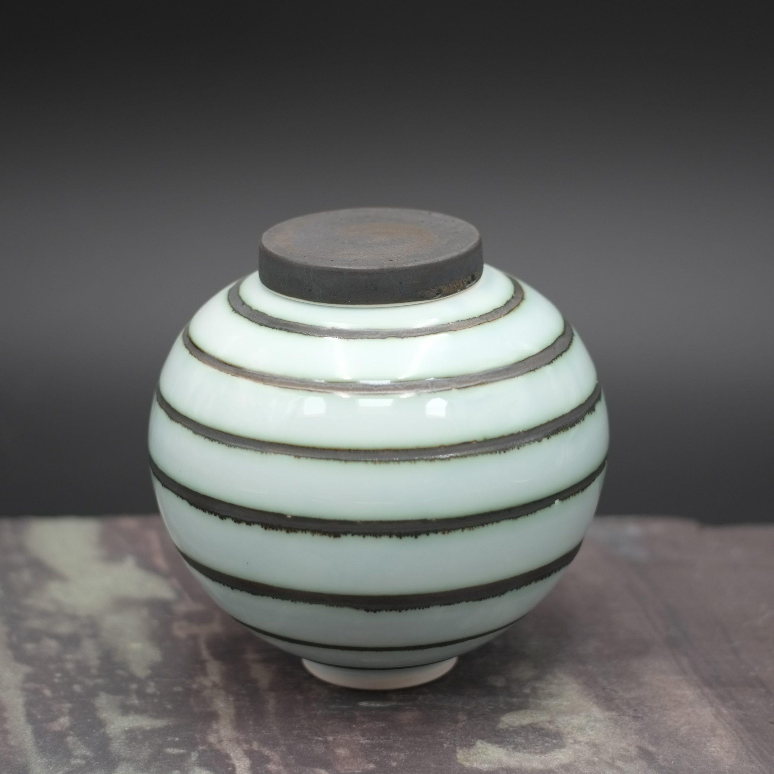 Tricia Thom. Ginger Jar (striped)