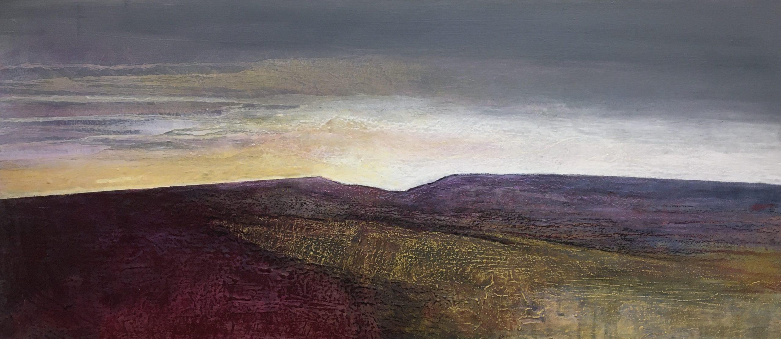 Glynnis Carter. Heather Landscape 30x80cm