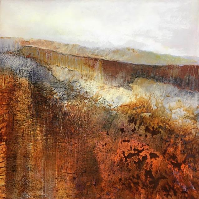 Glynnis Carter. Rust Landscape 40x40cm