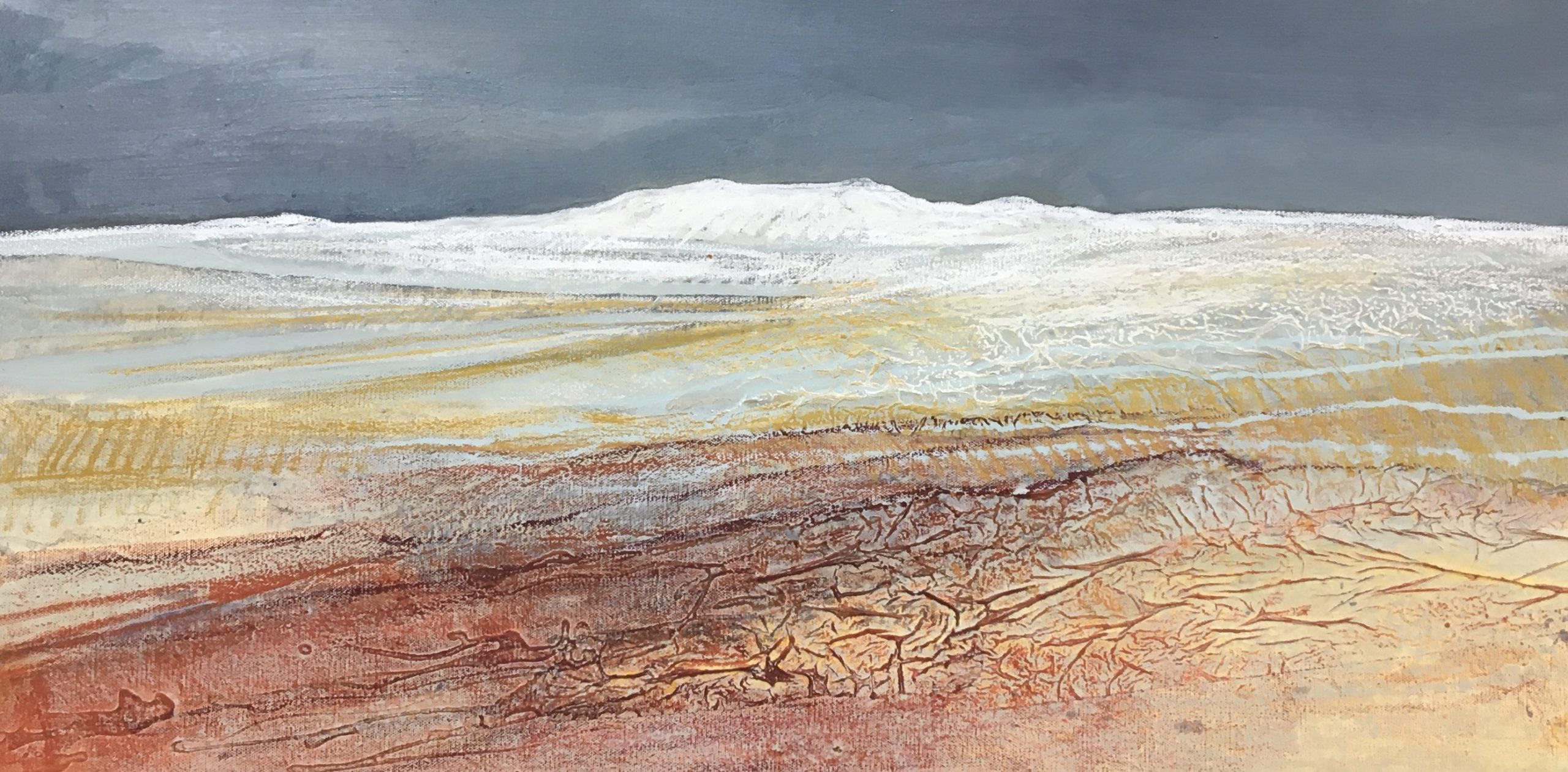 Glynnis Carter. Snow Fall 40x80cm